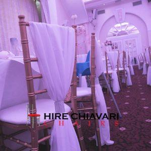 drape sashes chiavari chairs
