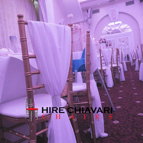 drape sashes chiavari chairs