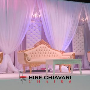 gold sofa wedding