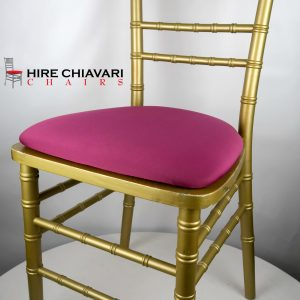 gold chiavari chair pink seat pads